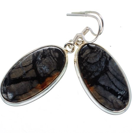 (Picasso Jasper Earrings 1 3/4