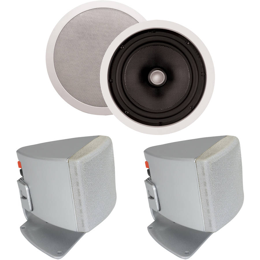 "ArchiTech PS-801 8"" Kevlar Ceiling Speakers and Bonus Speakers"