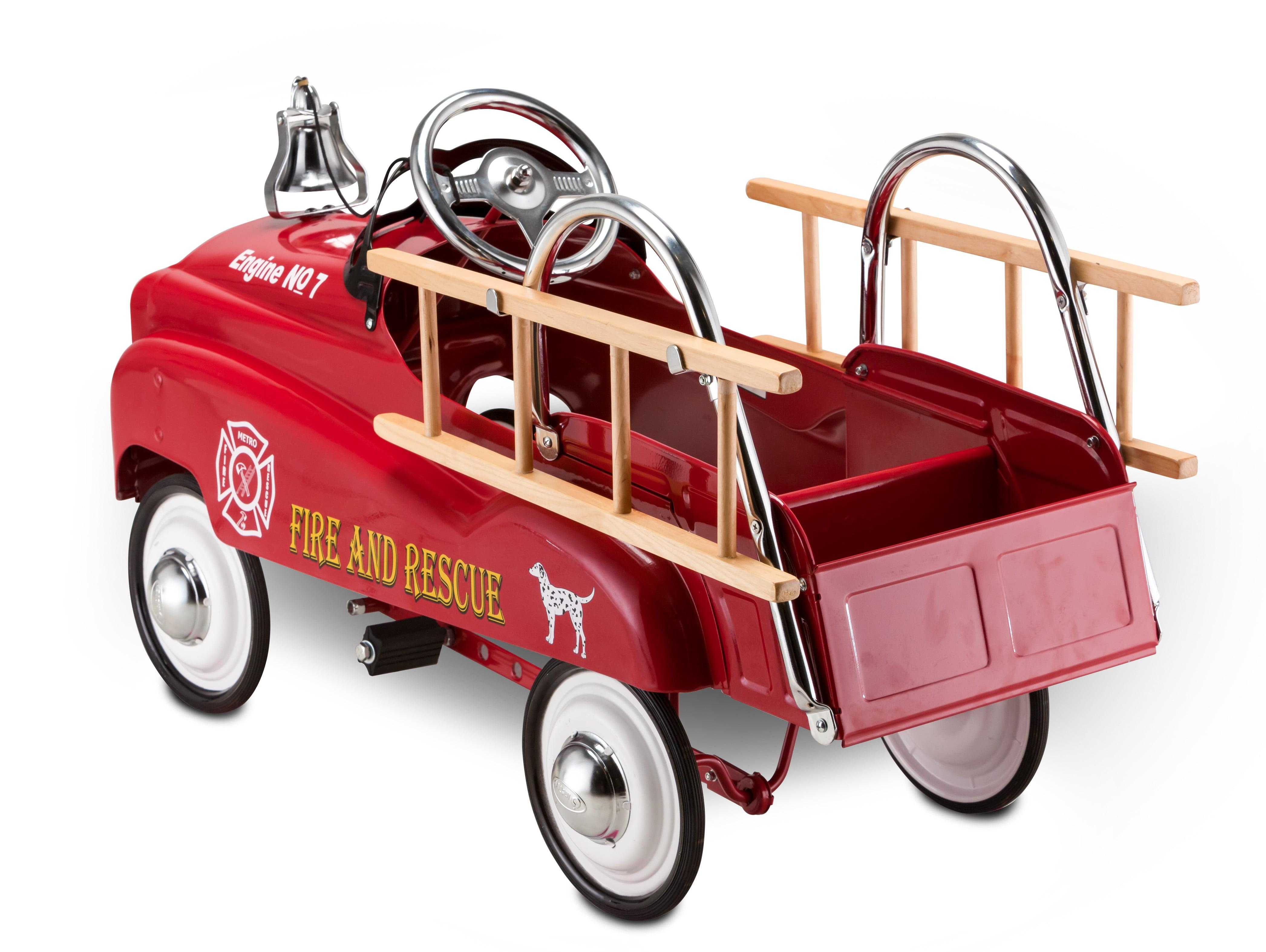 Instep Fire Truck Pedal Car Red Walmart Com Walmart Com
