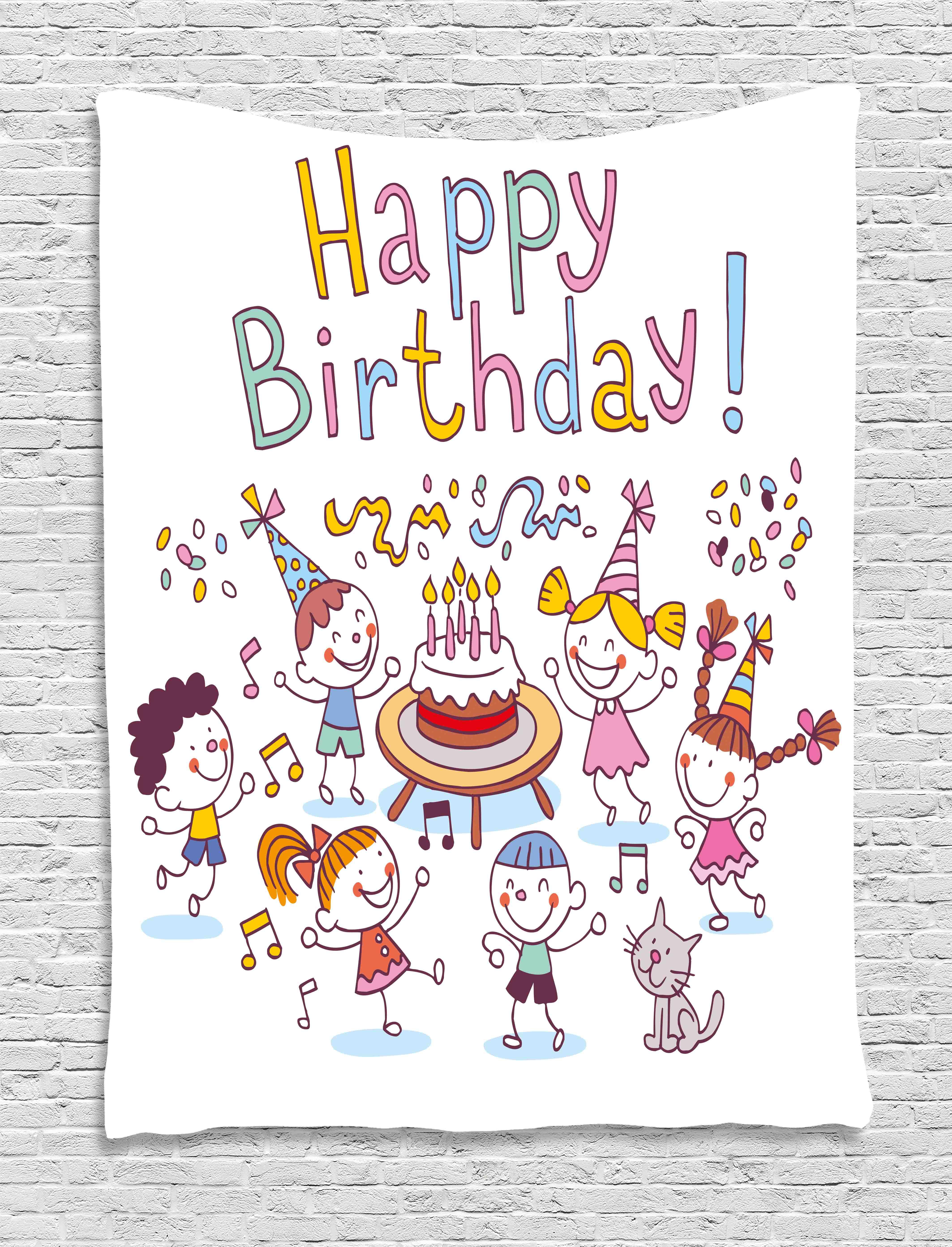 Birthday Decorations for Kids Tapestry Kindergarten Children