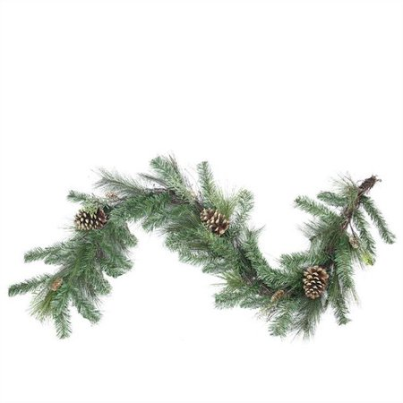 Northlight Seasonal Artificial Mixed Pine with Pine Cones and Glitter Christmas Garland with Unlit - Christmas Garlands