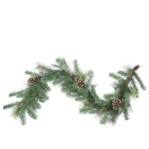 Northlight Seasonal Artificial Mixed Pine with Pine Cones and Glitter Christmas Garland with Unlit