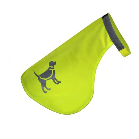 Hqrp Reflective Dog Safety Vest Protects Pets From Cars   Hunting Accidents  High Visibility Fluorescent Yellow