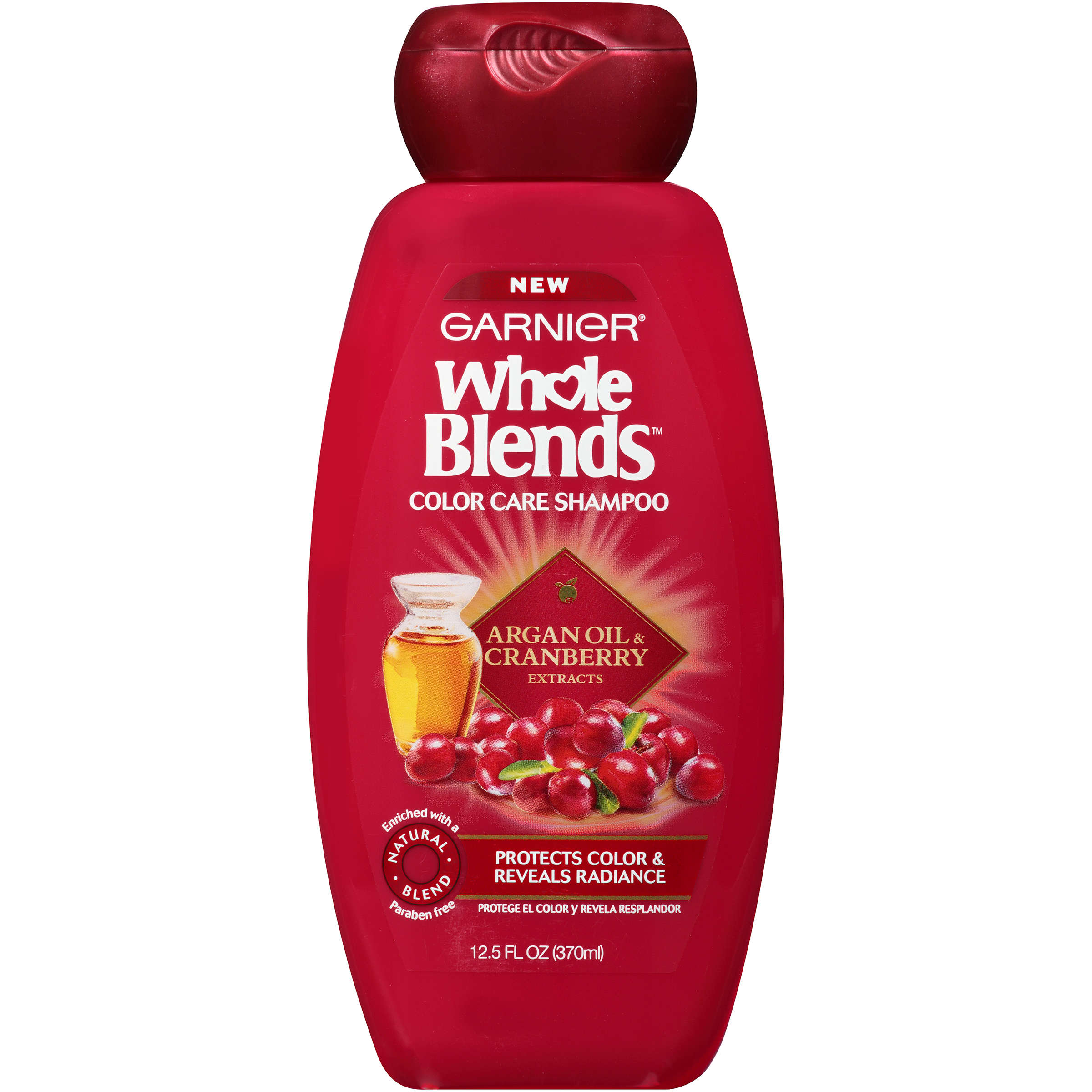Garnier Whole Blends Shampoo with Argan Oil & Cranberry Extracts 12.5 FL OZ