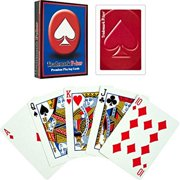 Trademark Poker Premium Playing Cards, Red, 6-Pack