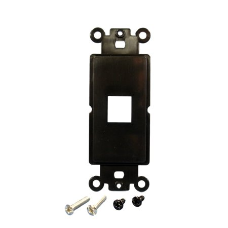 Cooper 5521-5EBK Black One Port Modular Decorator Mounting Strap Wall Plate Insert
