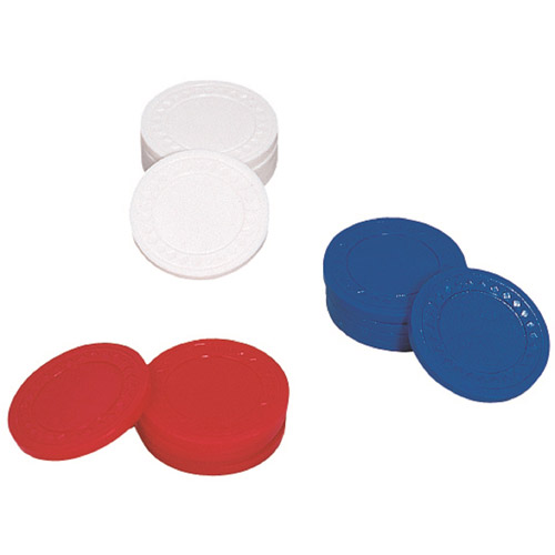 Drueke Plastic Poker Chips, 100 Count by Merdel Game Manufacturing