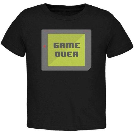 Halloween Old School Gamer Game Over Toddler T Shirt