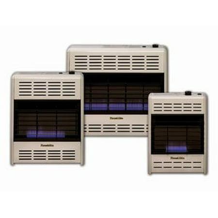 HearthRite Vent-Free Blue Flame Heater LP 30000 BTU, Thermostatic Control 30000 Btu Double Side Burner