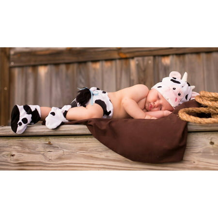 Infant Halloween Costume 0-6 Months (Cuddly Calf Infant Diaper Cover Set Infant Halloween Costume, 0-6)