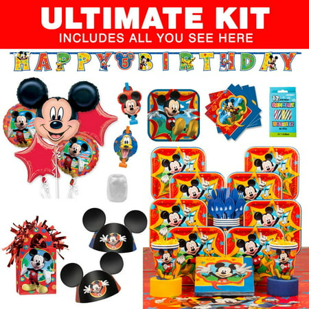 Mickey Mouse Ultimate Kit (Serves 8) - Party Supplies