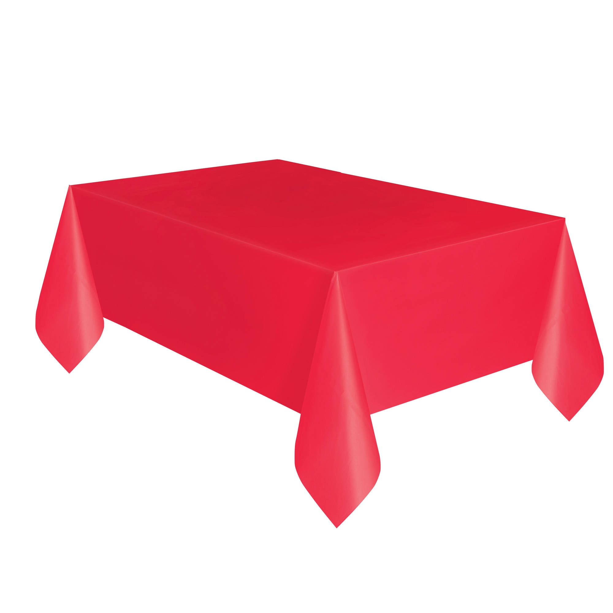 Red Plastic Tablecloth, 108 X 54 In, 2ct