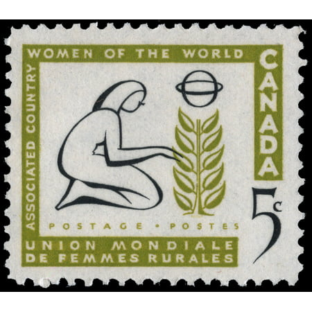 Canada Scott #385 - 5 Cent Women of the World Commemorative Issue From 1959 - Collectible Postage