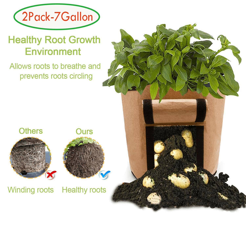 weepo 7 Gallon Taro Potato Planter Bag Plant Flower Grass Grow Pot Holders Home Garden Grow Bag Useful Tool