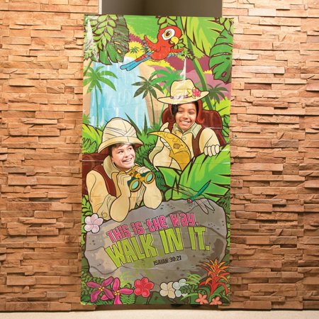 Plastic Walk His Way Photo Door Banner ()