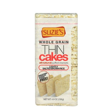 Suzie's Thin Healthy Thin Cakes Brown Rice Lightly Salted Gluten Free 4.9 oz