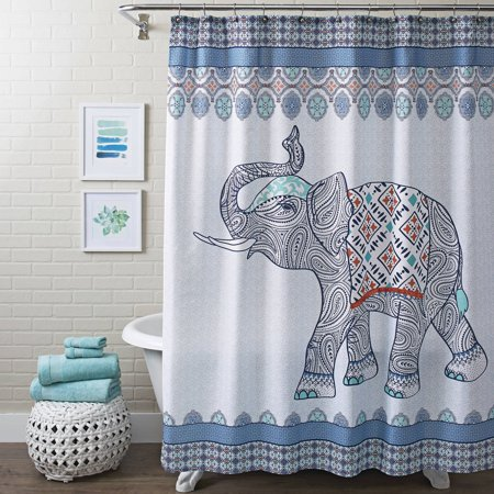 Better Homes & Gardens Global Elephant Shower Curtain, 1 Each