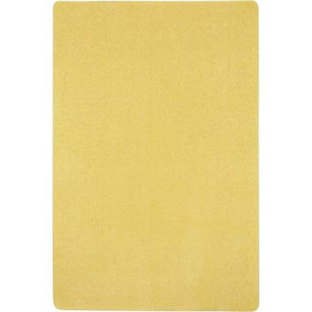 Rectangle Lemon (Joy Carpets 623R-06 Just Kidding Classroom Rectangle Rug, Lemon Yellow - 12 x 6 in. )