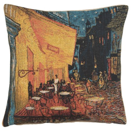 Cafe Terrace at Night - A - H 18 x W 18(Cushion Cover) - image 1 de 1