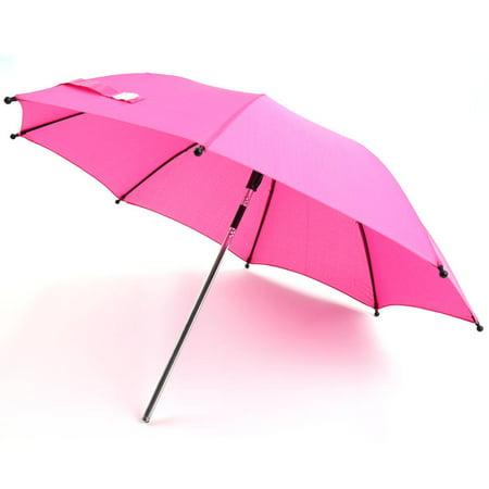 WALFRONT Baby Stroller Wheelchair Pushchair Pram UV Rays Sun Rain Parasol Umbrella + Clip,Baby Stroller Wheelchair Pushchair Pram UV Rays Sun Rain Parasol Umbrella + Clip Ros Red/Black/Blue