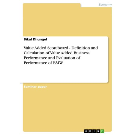 Value Added Scoreboard - Definition and Calculation of Value Added Business Performance and Evaluation of Performance of BMW - (Add A Calculated Field To A Query)