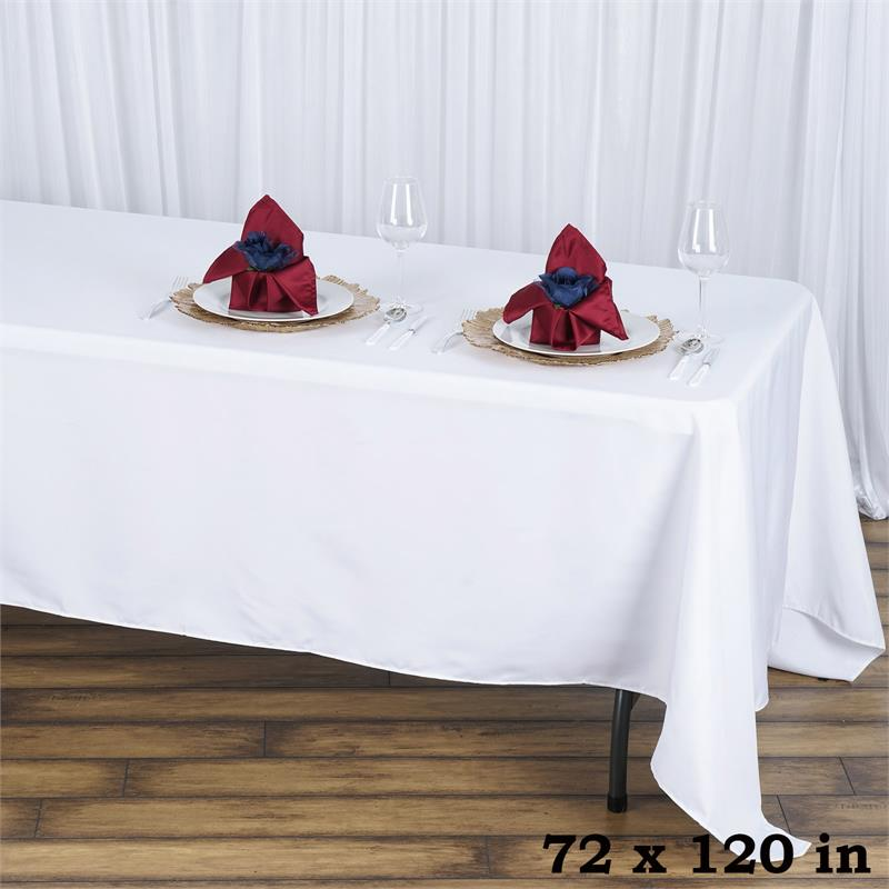 "BalsaCircle 72x120"" Premium Polyester Rectangular Tablecloth Table Linens by"