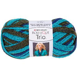 Red Heart Boutique Trio Yarn-Aegean