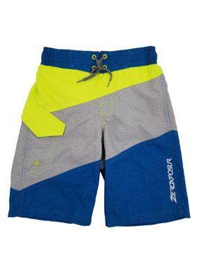 aeb9c68f9e Product Image Boys Neon Gray & Blue Cargo Surf Shorts Swim Trunks Board  Shorts S8