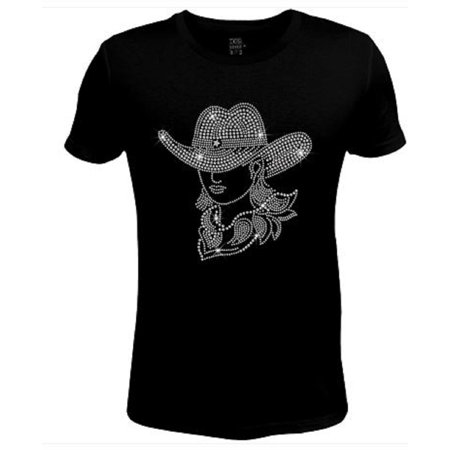 Bling Rhinestone Womens T Shirt Cowgirl Mary Lou JRW-501-SC - Cowgirl Outfits For Ladies