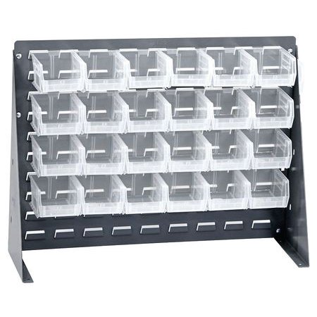 Louvered Rack - QUANTUM STORAGE SYSTEMS QBR-2721-210-24CL Louvered Bench Rack, 27 x 8 x 21 In,