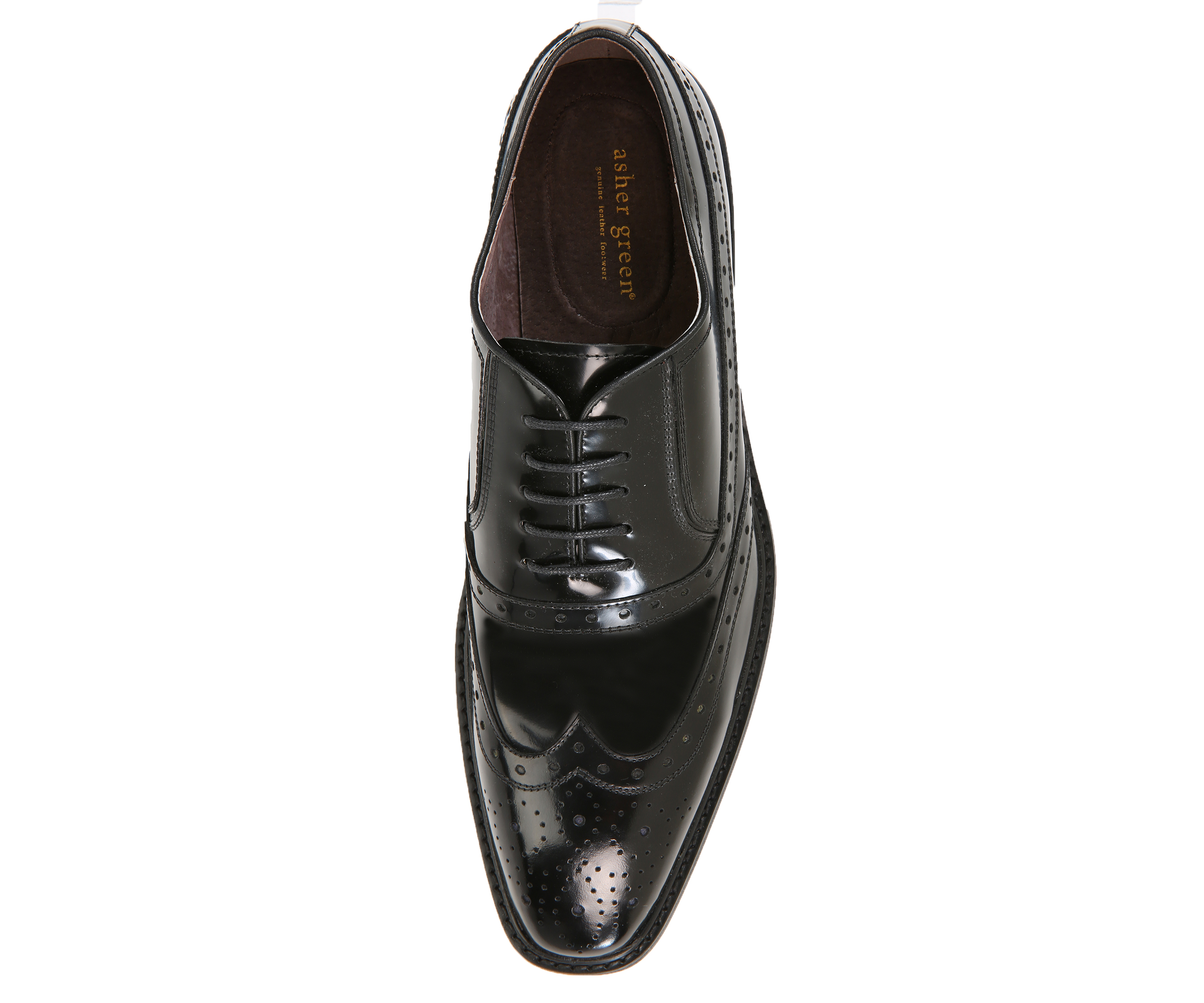 480c488bc8c36 Asher Green Mens Genuine Box Calf Leather Wingtip Dress Shoe, Classic  Lace-up Oxford Style