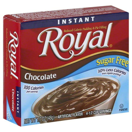 Royal Instant Sugar Free Chocolate Reduced Calorie Pudding & Pie Filling, 1.7 oz