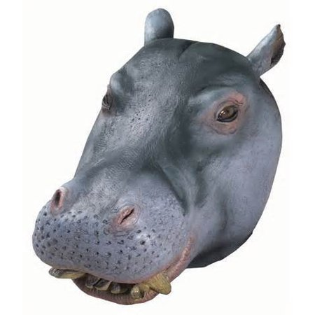 Hippo Mask : Deluxe Latex Animal - Hippo Mask