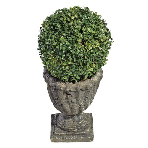 Design Toscano Boxwood Ball Floor Plant in Urn