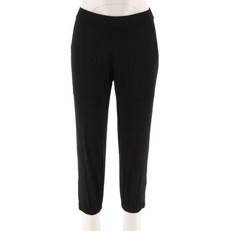 Lisa Rinna Banded Bottom Knit Crop Pants A287832 (Knit Crop Pant)
