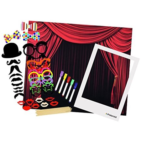 Polaroid All-In-One Photo Booth Kit – Includes Backdrop, Fun Photo Props, Markers & Oversized Polaroid-Styled Frame – Perfect for Parties, Family Affairs & Corporate Events - Polaroid Frame Prop