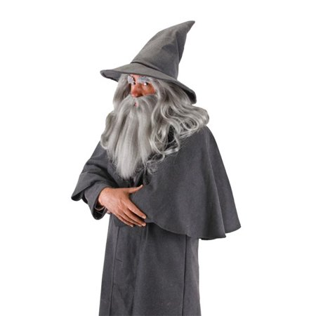Gandalf Wig and Beard Adult Halloween Accessory - White Wigs Halloween