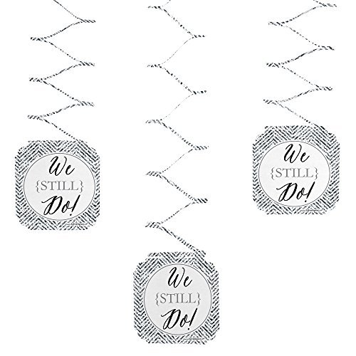 We Still Do - Wedding Anniversary Party Hanging Decorations - 6 Count