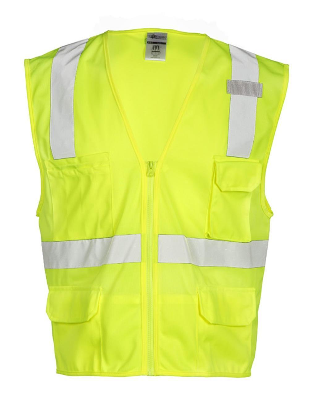 ML Kishigo 1291 6 Pocket Zipper Solid Vest