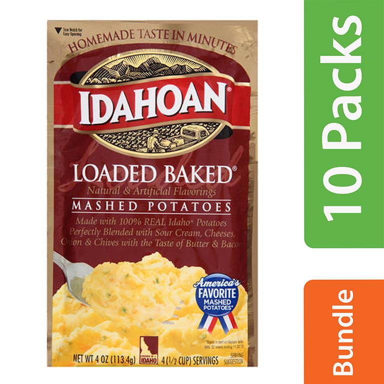 (10 Pack) Idahoan Loaded Baked Mashed Potatoes, 4 oz