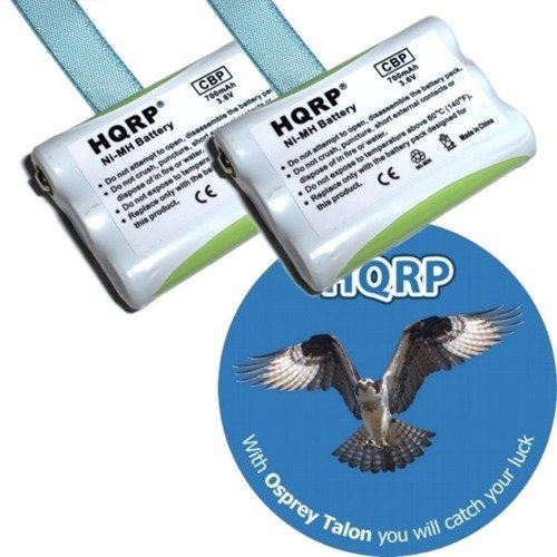 HQRP TWO Phone Batteries for AT&T / Lucent E2120, E2125, E2715B, E2725B, E5600 Cordless Telephone + HQRP Coaster