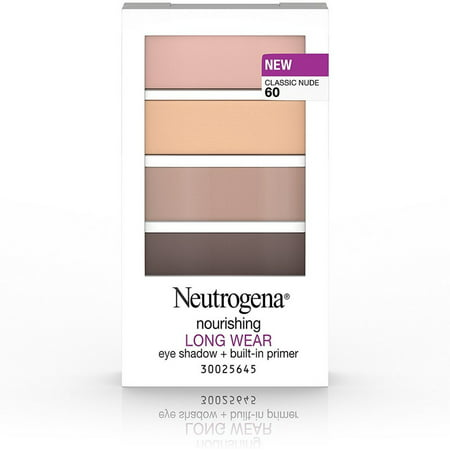 Neutrogena Nourishing Long Wear Eye Shadow + Built-in Primer, Classic Nude [60] 0.24 oz