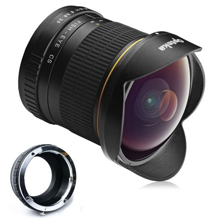 Opteka 6.5mm f/3.5 HD Aspherical Fisheye Lens for Panasonic Lumix DMC G9, GH5, GX850, G85, GX8, G7, GM5, GH4, GX7, GH3,
