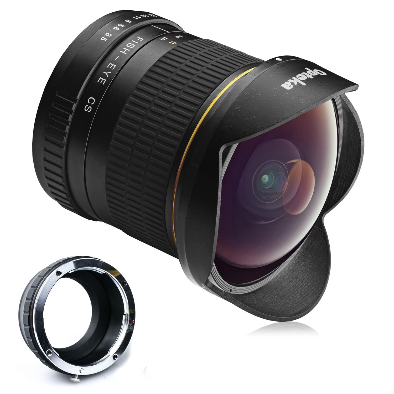 Opteka 6.5mm f/3.5 HD Aspherical Fisheye Lens for Sony NEX E-Mount a6500, a6300, a6000, a5100, a5000, NEX-7, NEX-6, 5T, 5N, 5R, 3N Digital Mirrorless Cameras