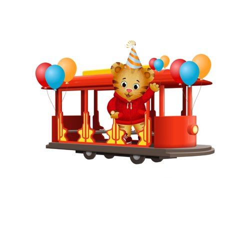 Daniel Tiger Trolly With Balloons Edible Image Sheets Cake
