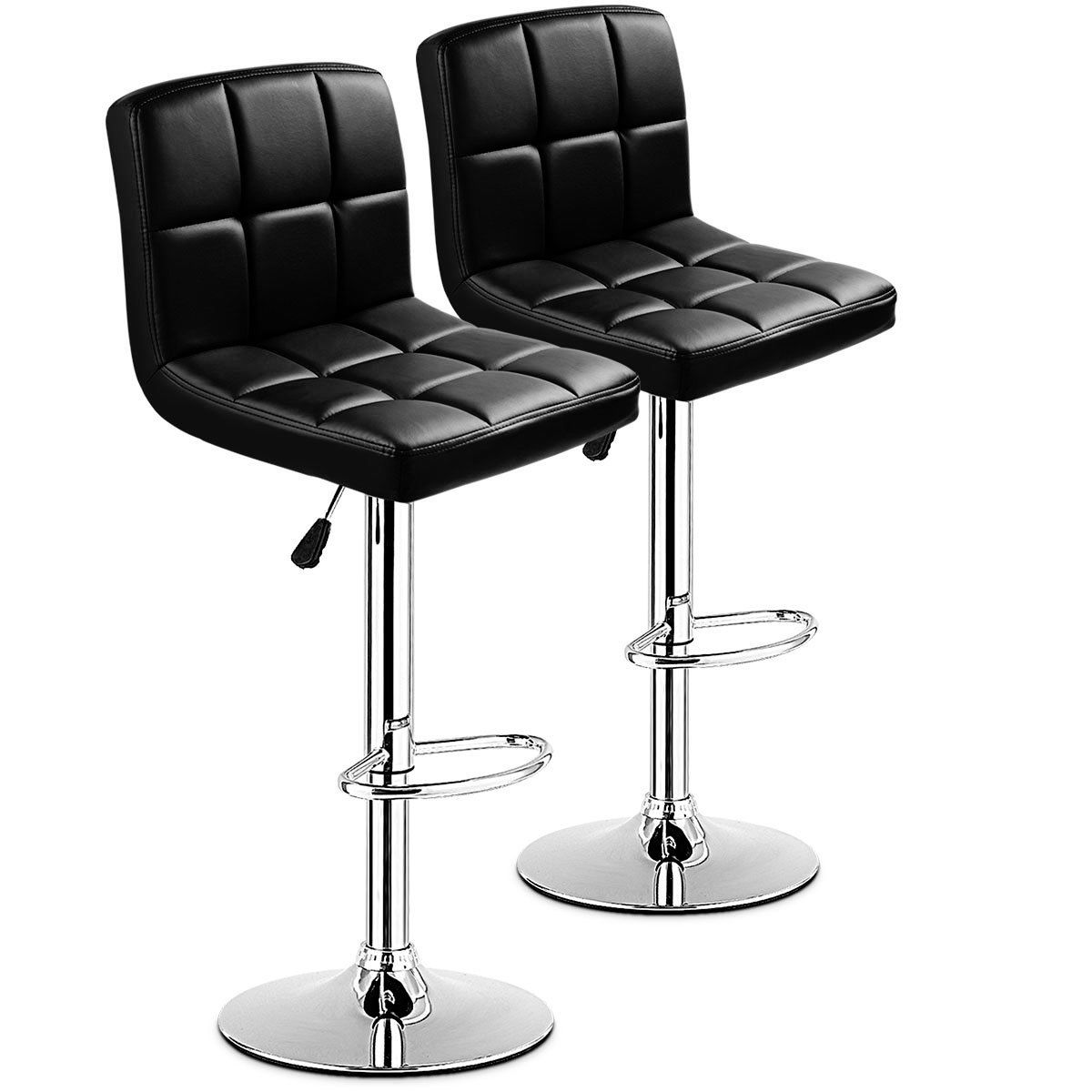 Bar Stools Set of 9,Counter Height Stools with Back Pu Leather ...