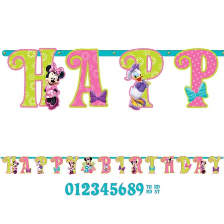 Disney Minnie Mouse Bowtique Jumbo Letter Banner Combo Pack - Disney Cars Birthday Banner