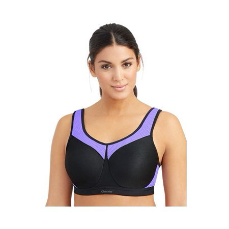 Glamorise Unlined Bra (Womens Plus High Impact Wire Sport Bra, Style 9066)