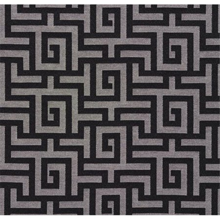 Designer Fabrics K0270A 54 in. Wide Black And Silver Shiny Geometric Two Toned Maze Silk Satin Upholstery