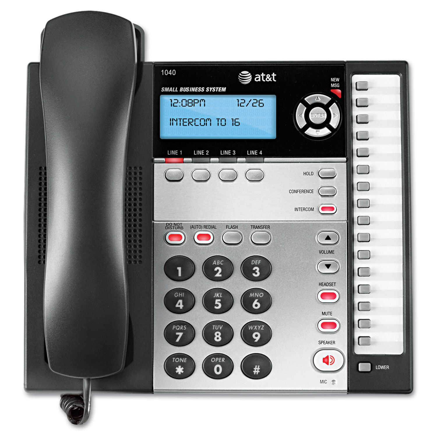 1040 Corded Four-Line Expandable Telephone by AT&T